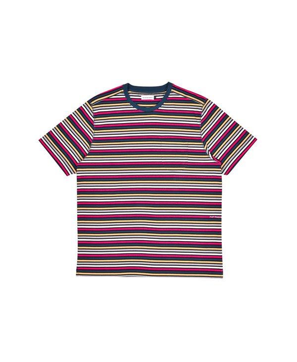 Pop Trading Company Striped Pocket T-Shirt - Multicolour