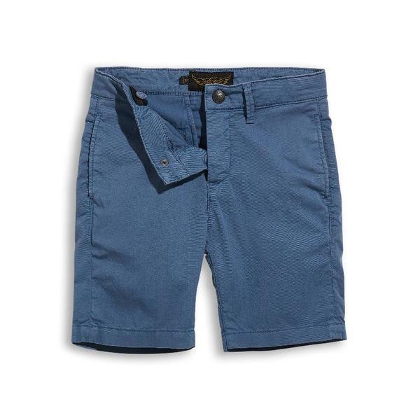 Kids Finger In The Nose Allen Chino Bermuda Shorts - Stone Blue