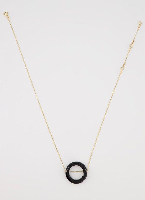 ADORN MONU BLACK ONYX necklace - GOLD/BRONZE