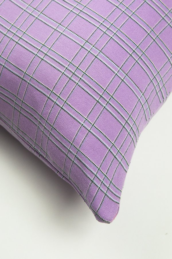 Archive New York Chiapas Plaid Pillow - Lilac
