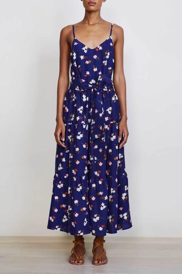Apiece Apart Marjana Maxi Dress - Navy Aster Floral