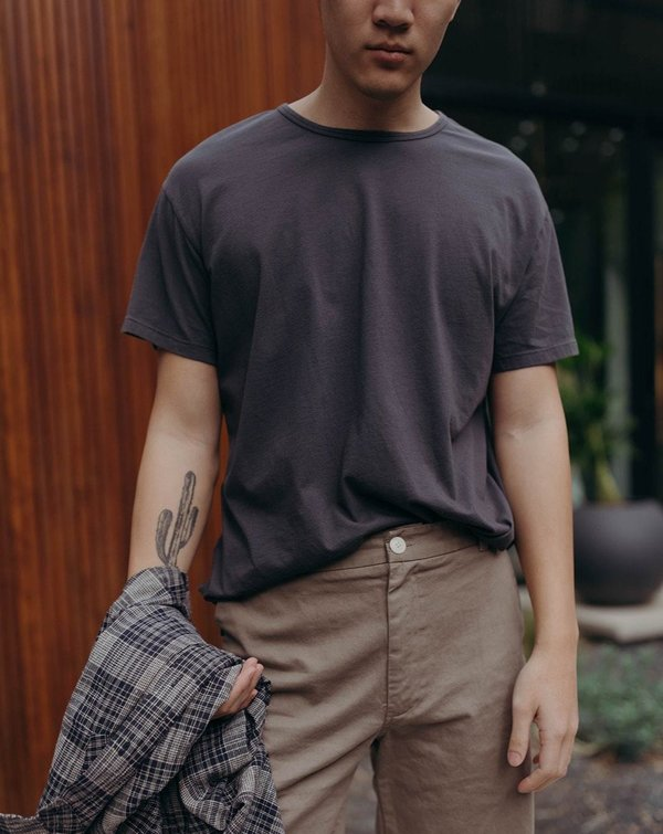 Esby SHORT SLEEVE LIFETIME CREW top - WASHED BLACK