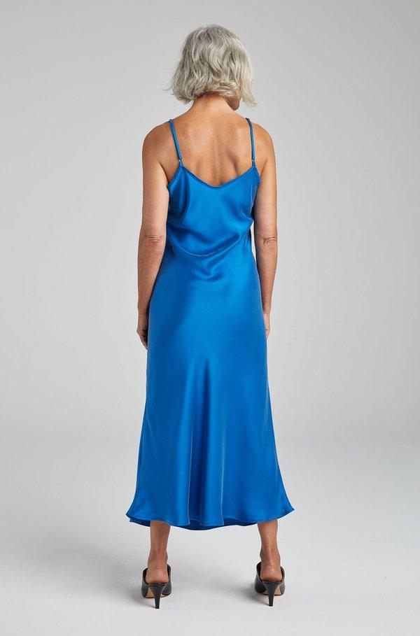 Silk Laundry 90S SLIP DRESS - COBALT BLUE