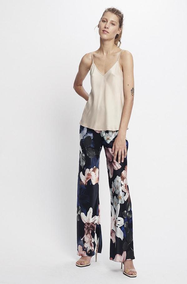 Silk Laundry BIAS CUT PANT - LILIES