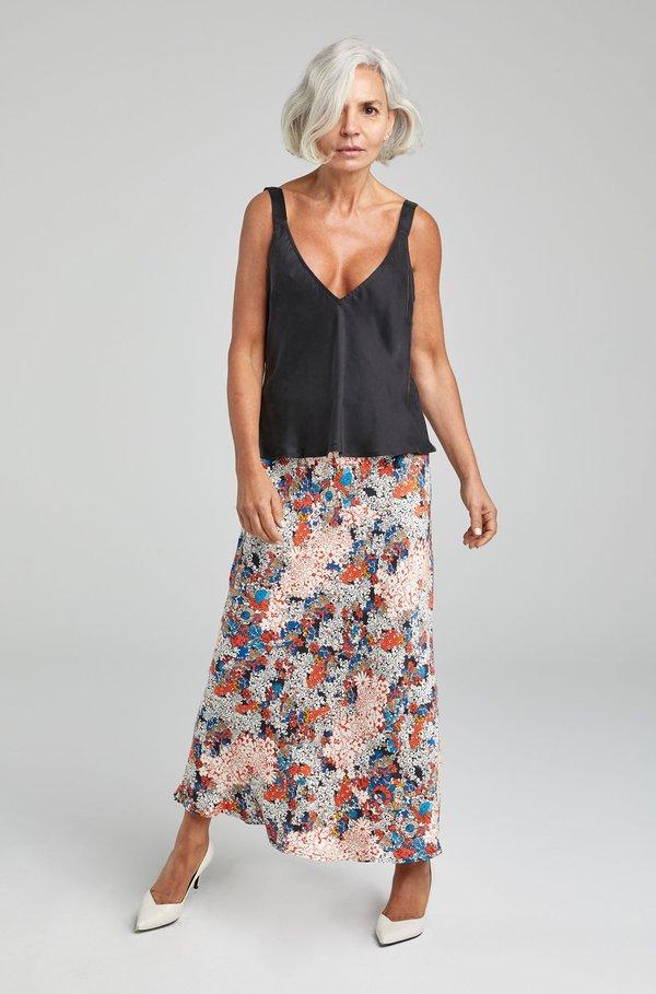 Silk Laundry DECO CAMI - BLACK