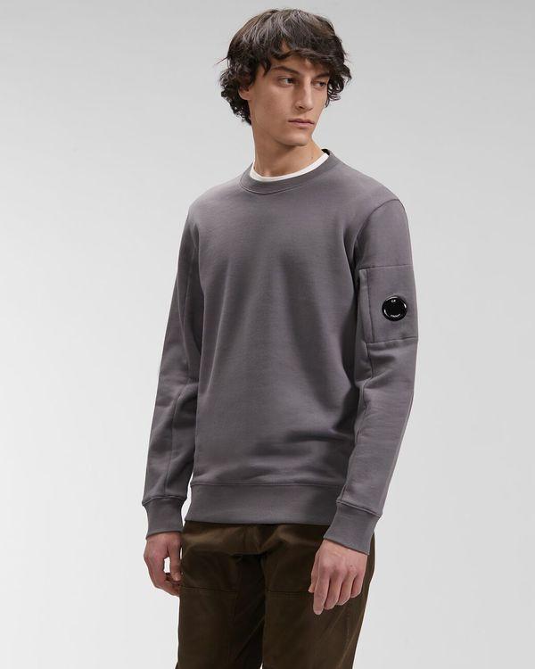 CP company Diagonal Raised Fleece Sweatshirt - Gargoyle