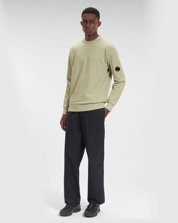 CP company Diagonal Raised Fleece Sweatshirt - Ivy
