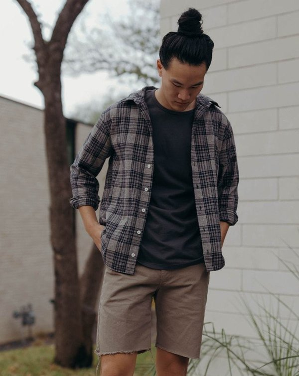 Esby Percy Button Down - Midnight Plaid