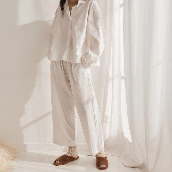 Deiji Studios Lounge Trouser - White