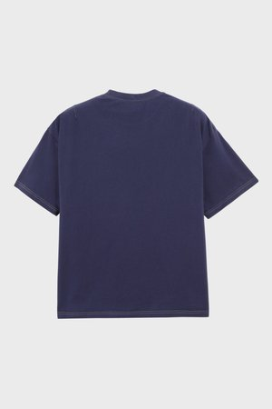PHIPPS Garment Dye Organic Cotton Jersey Pocket Tee - Navy