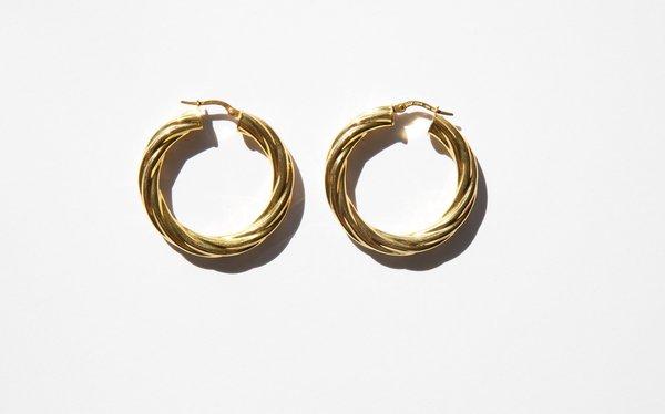 Kindred Black Bollena Hoops - 14k gold