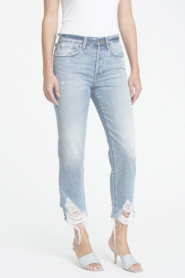 Pistola Charlie High Rise Straight Jeans - Blue Skies