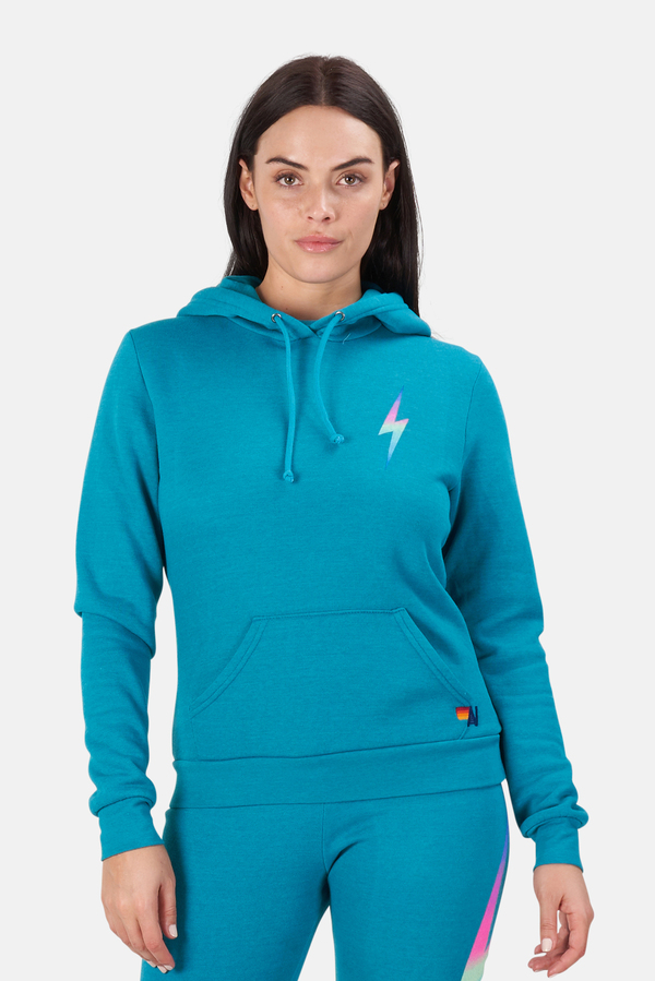 Aviator Nation Bolt Pullover Hoodie Sweater - Pink