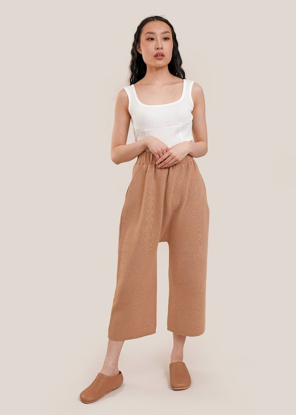 Lauren Manoogian Interlock Peg Pants - soft tannin
