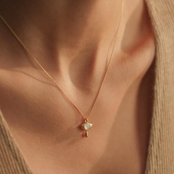 Jenny Bird Denni Pendant Necklace - Gold