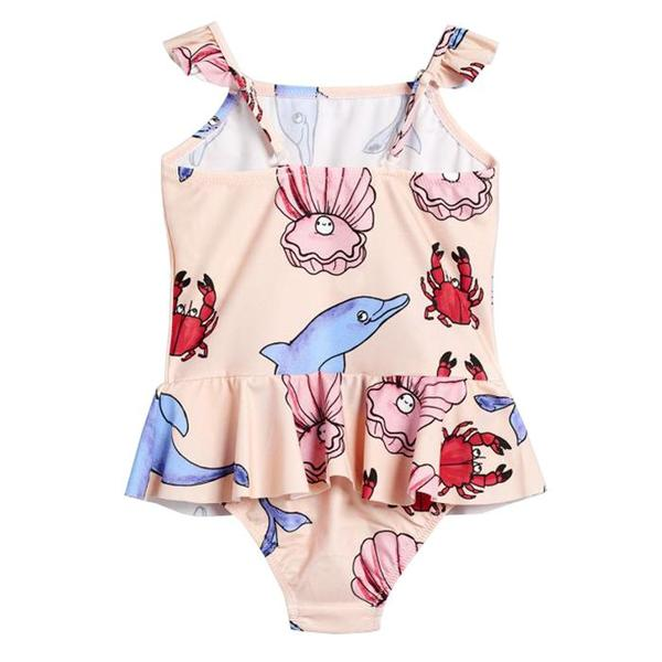 kids Mini Rodini Baby And Child Dolphin Swimsuit - pink