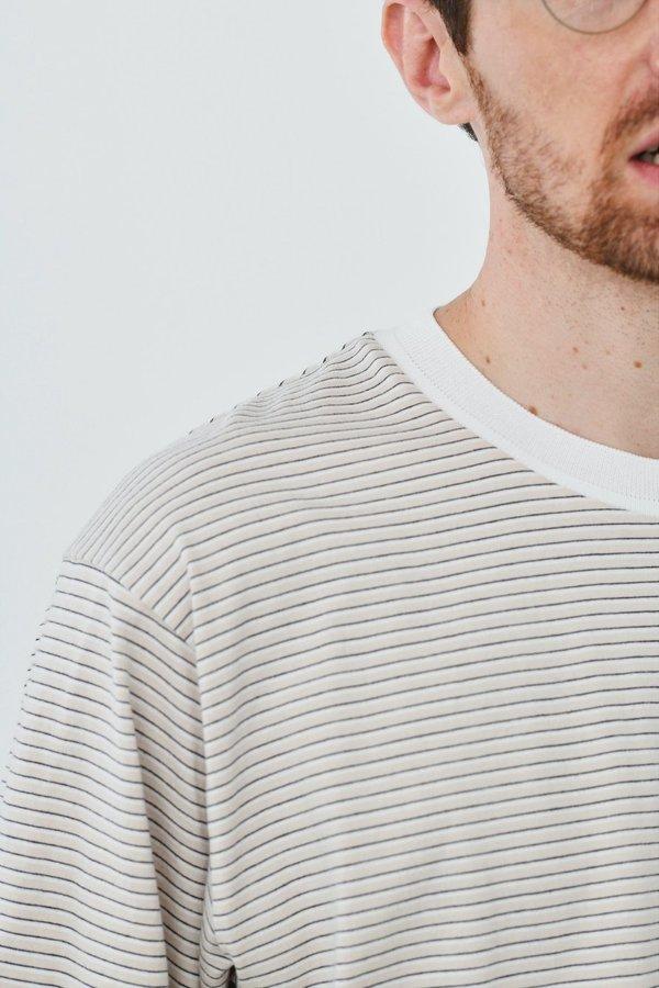 Still By Hand Striped half sleeve t-shirt - pink/beige