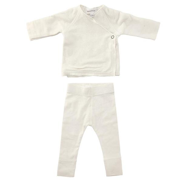 Kids Pequeno Tocon Baby Amour Two Piece Set - Natural Cream
