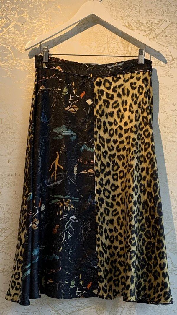 Parapluie Panelled Skirt - multi-pattern print
