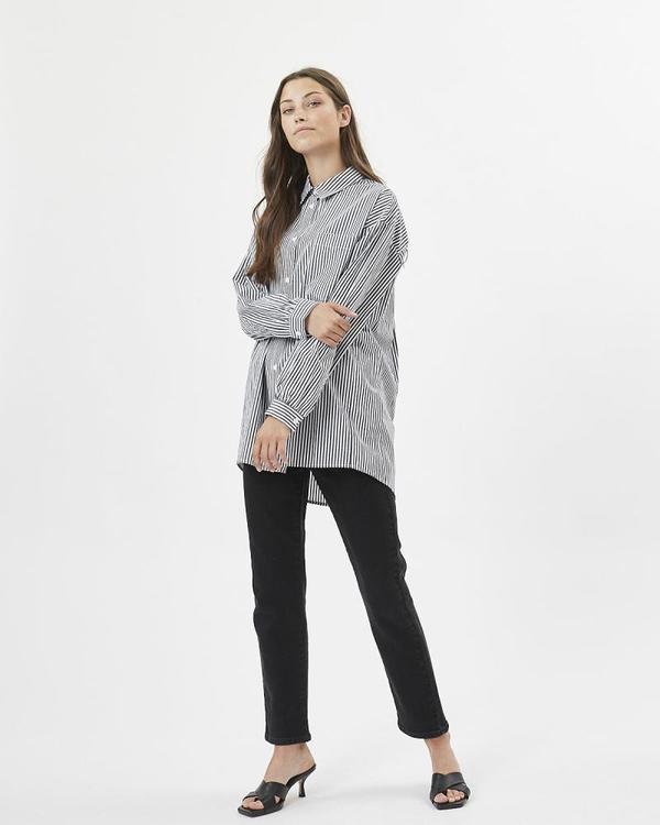 Minimum Mailiana Ls Shirt - Navy Blazer