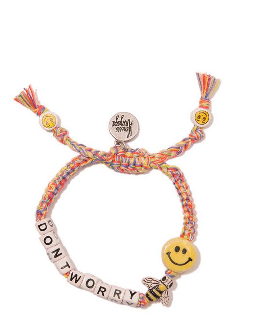 Venessa Arizaga Don't Worry Bee Happy Friendship Bracelet