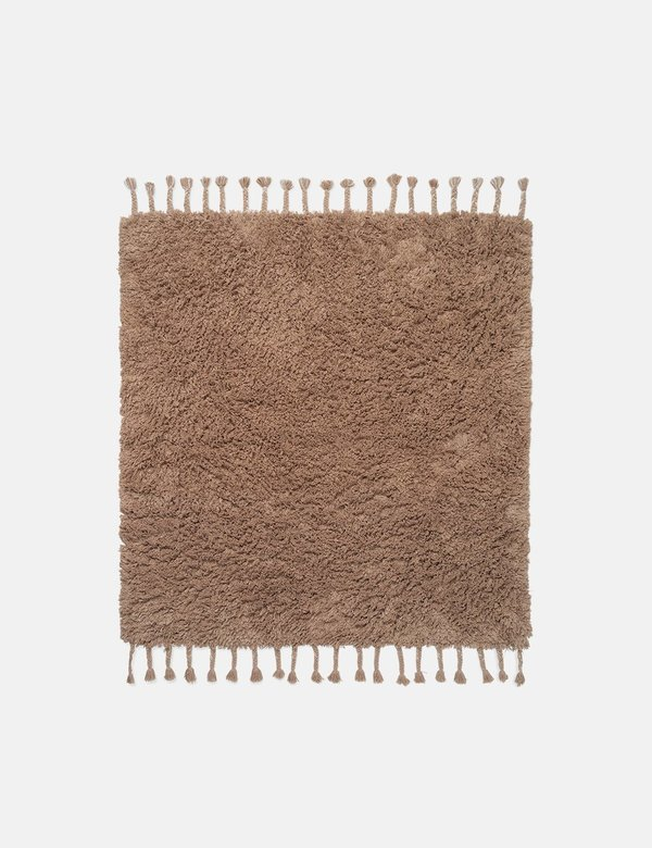 Ferm Living Amass Long Pile Rug - Brown