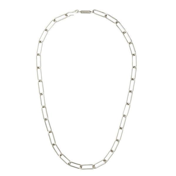 Machete Paperclip Chain Necklace - Silver