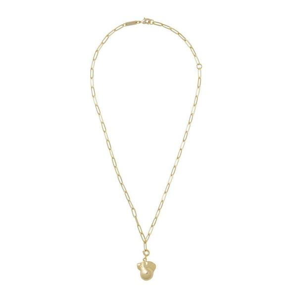 Machete Pearl & Petite Paperclip Chain Pendant Necklace - Gold