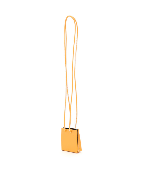 Medea Longstrap Leather Mini Bag - orange