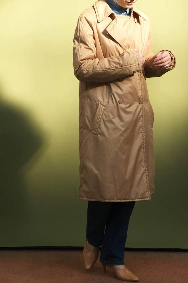 Vintage Gianfranco Quilted Jacket - golden beige