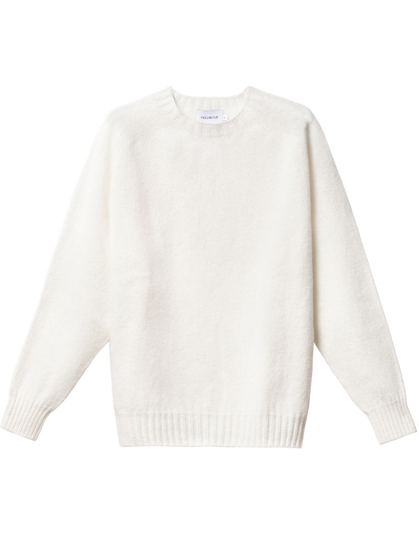 Neighbour Shetland Sweater Winter White on Garmentory