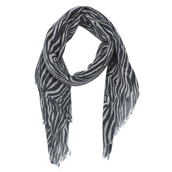 KIDS Bonton Child Scarf - Black And White Zebra Print