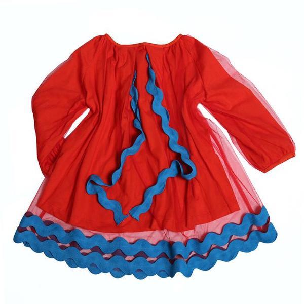 Kids Tia Cibani Kids Kaia Tulle Dress - Geranium Red