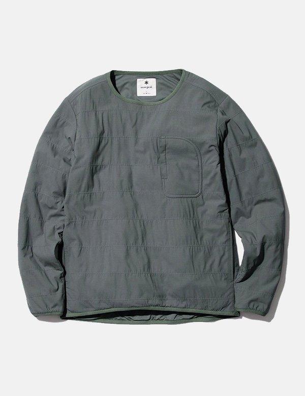 Snow Peak Polartec Flexible Pullover - Grey/Khaki