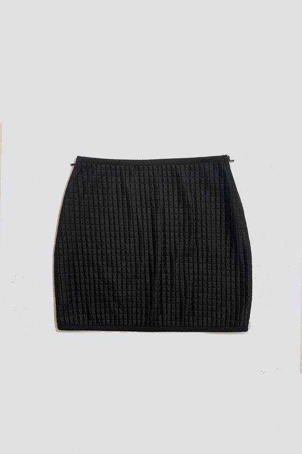 Vintage Squares Mini Skirt - Black