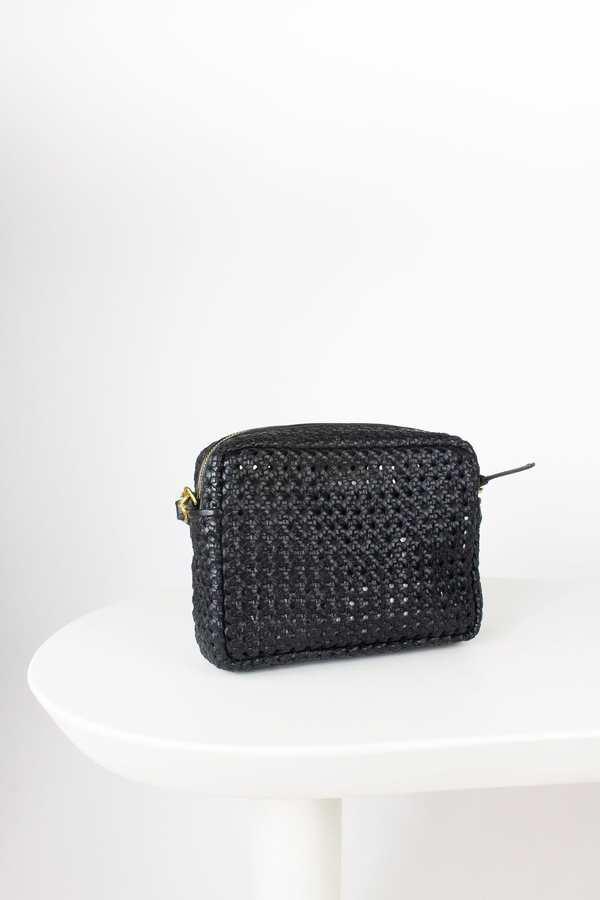 Clare V. Midi Sac Rattan bag - black