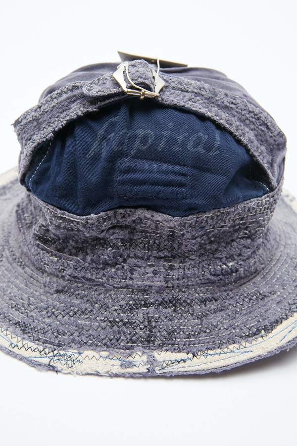 Kapital 12oz Denim The Old Man and the Sea Hat - Dark Indigo