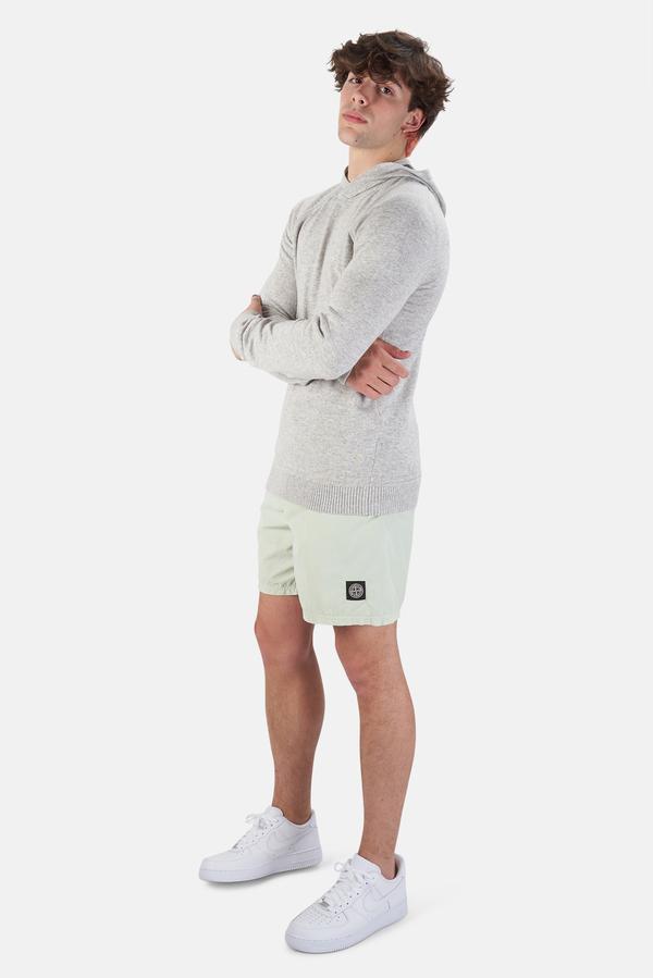 Stone Island Garment Dyed Cotton Swim Shorts - light Green