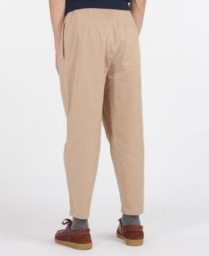 BARBOUR TWILL RUGBY TROUSERS - Sand