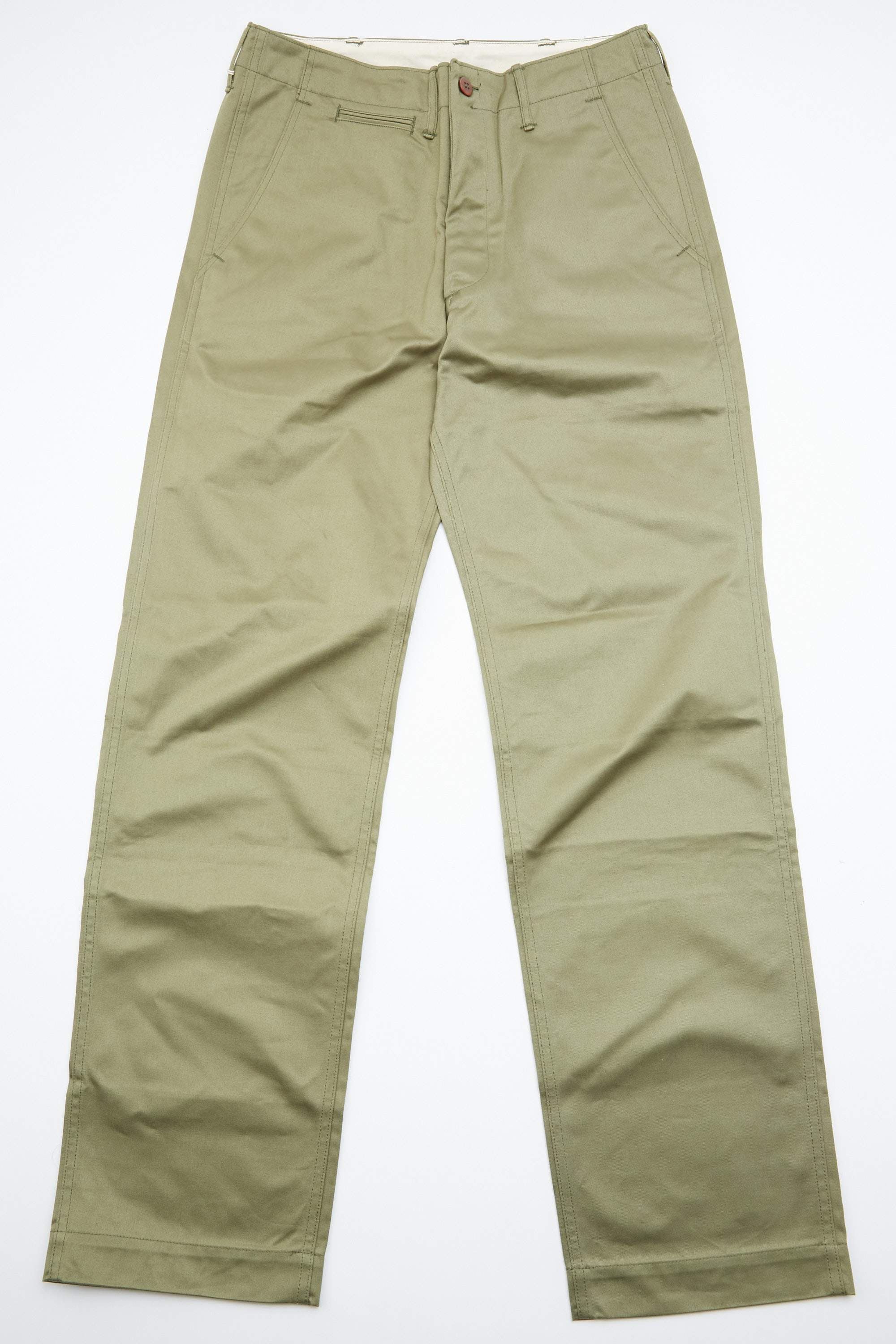 1940s Trousers, Mens Wide Leg Pants Warehouse  Co. Lot 1082 Duck Digger Chinos - West Point Green $175.00 AT vintagedancer.com