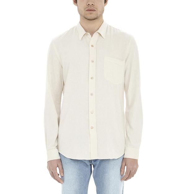 99fe03fcb4fcd4 Men s Our Legacy Raw Silk Shirt I White