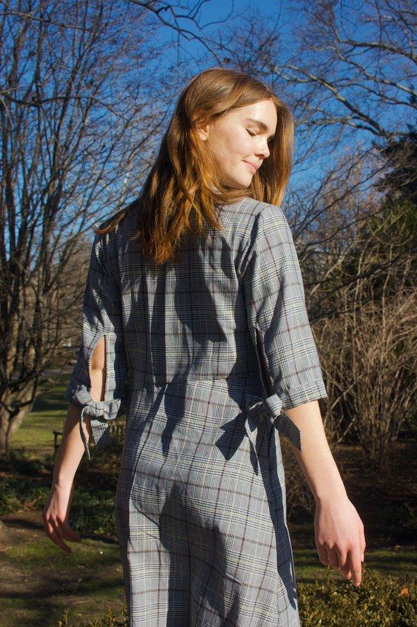 Conrado Morgan Shirt Dress - Grey Checkered