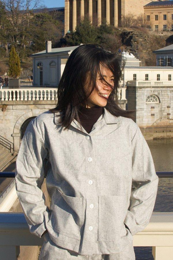 Conrado Nicole Painter Chore Jacket - Grey Wool