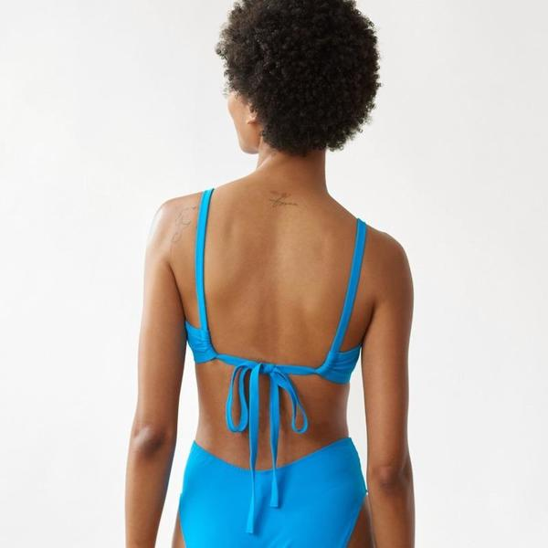Araks Yash Scrunch Tie Back Bikini Top - Minton