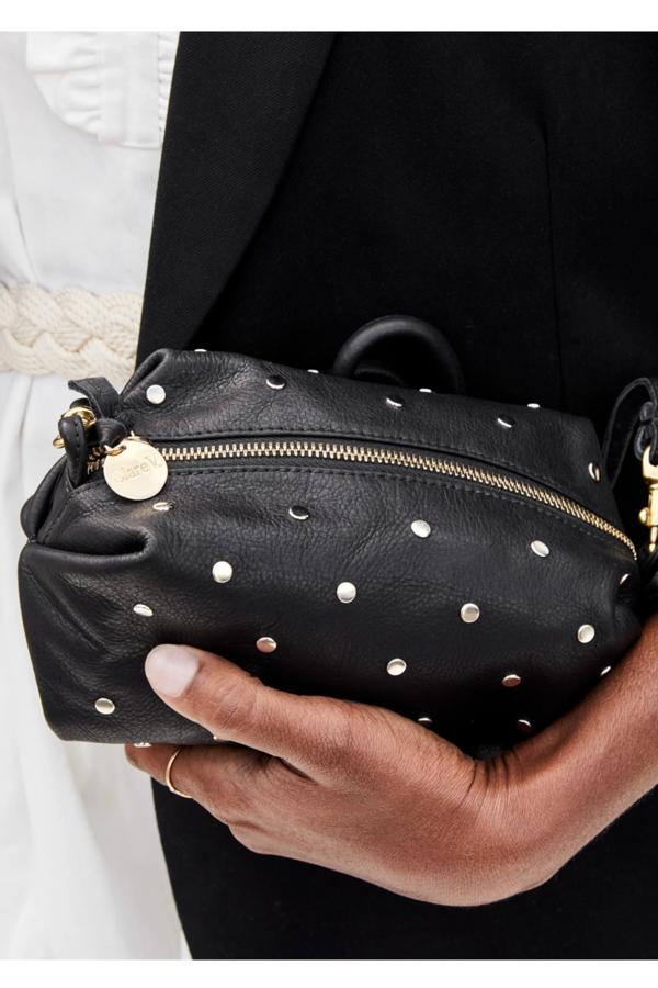 Clare V. Vivier Black Lamba Silver Stud Bag - black