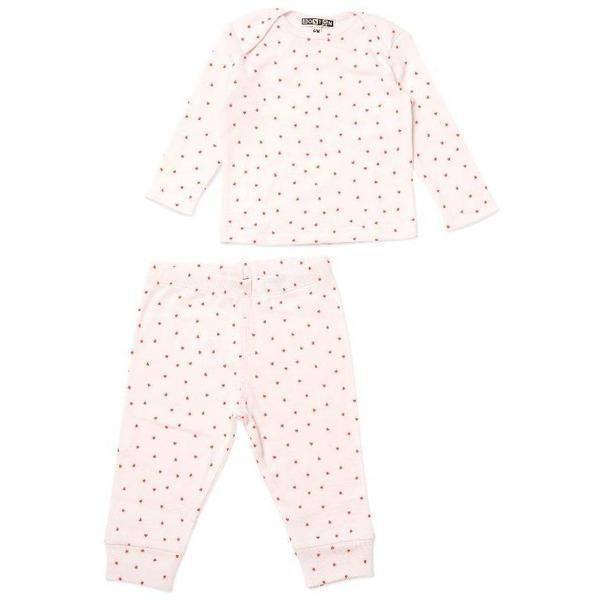 Kids Bonton Hearts Baby Lounge Set - Pink