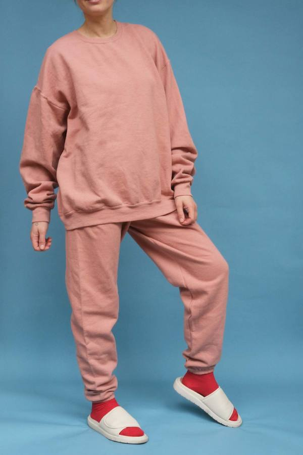 WOLF & GYPSY VINTAGE Hand Dyed Relaxed Fit Sweatshirt - Salmon