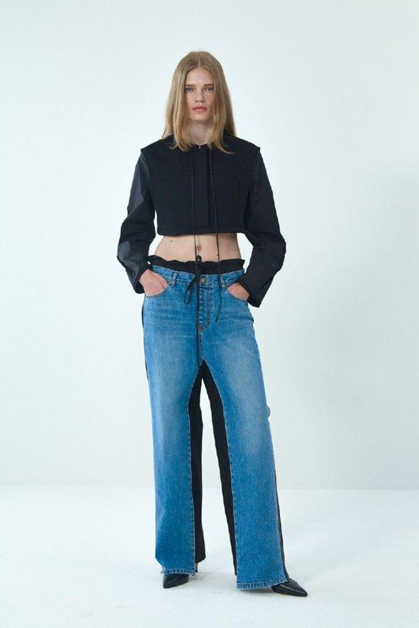 Theopen Product FRONT JEANS COTTON PANTS - blue/black