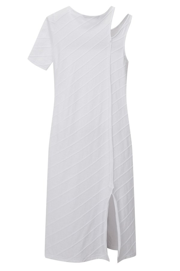 Theopen Product One-shoulder Cut-out Dress - White