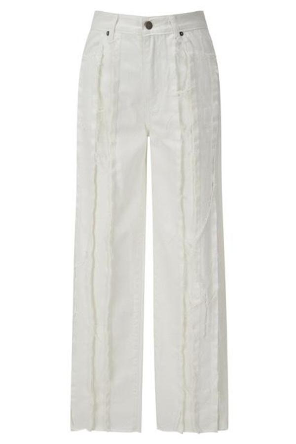 Theopen Product RAW-EDGE PANELLED JEANS - White